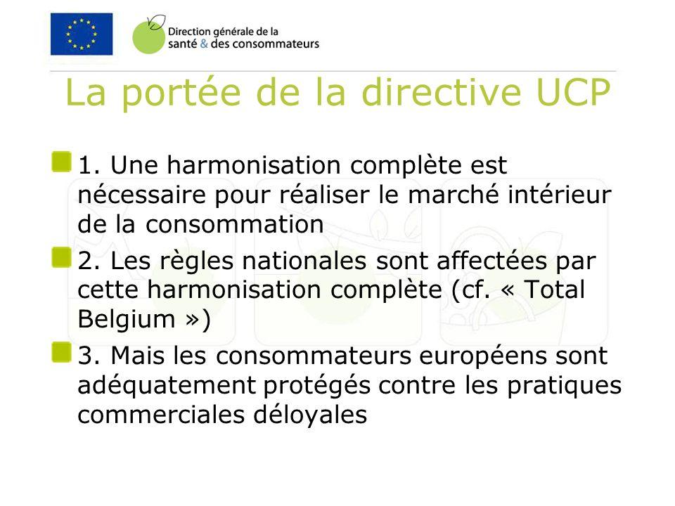 La portée de la directive UCP