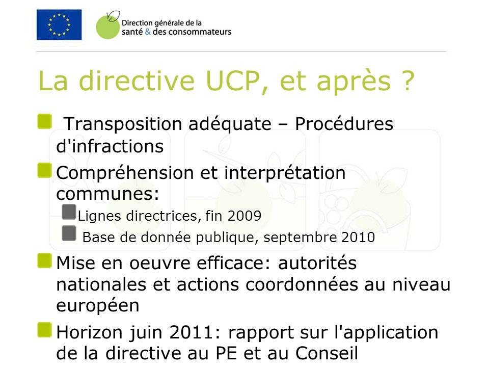La directive UCP, et après