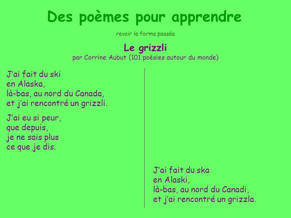 Des poèmes pour apprendre