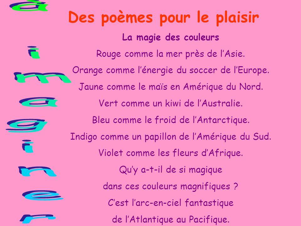 Des poèmes pour le plaisir