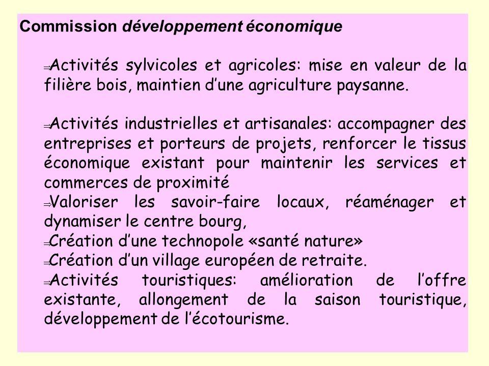 Commission développement économique
