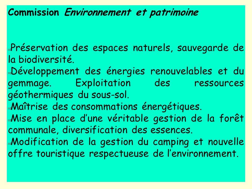 Commission Environnement et patrimoine