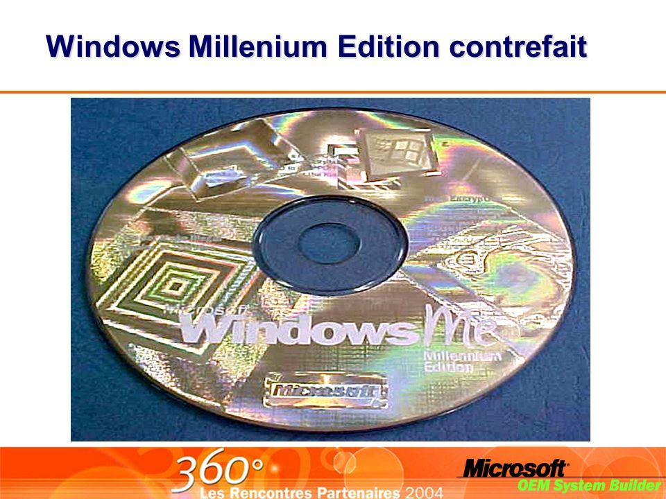 Windows Millenium Edition contrefait