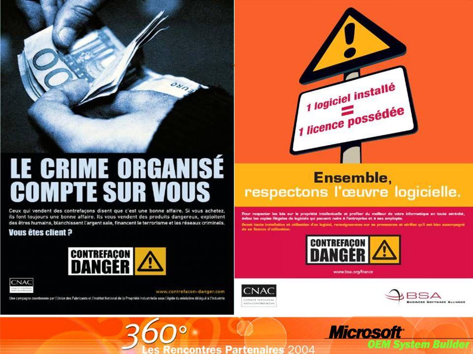 Campagnes BSA auxquelles Microsoft est associé