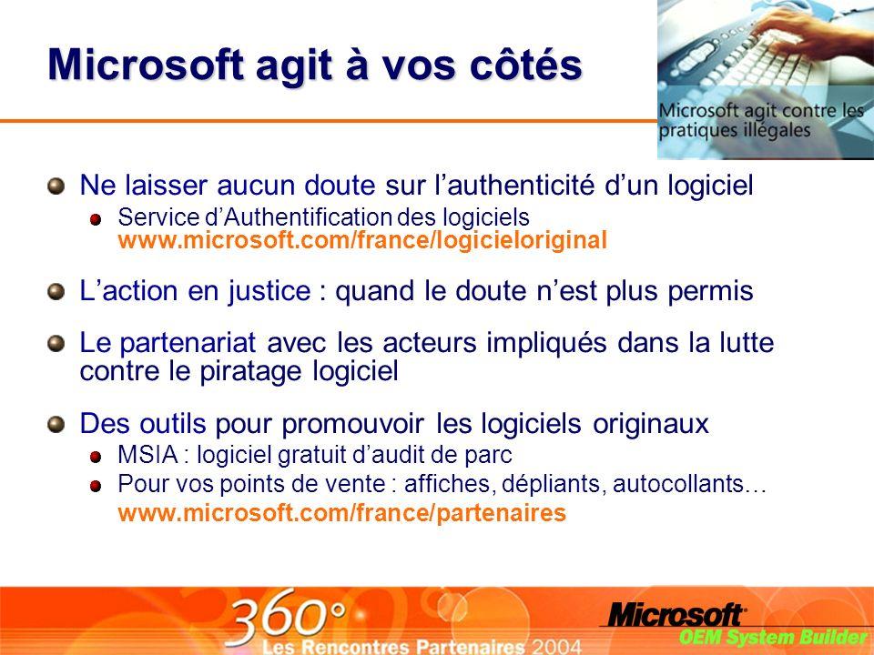 Microsoft agit à vos côtés