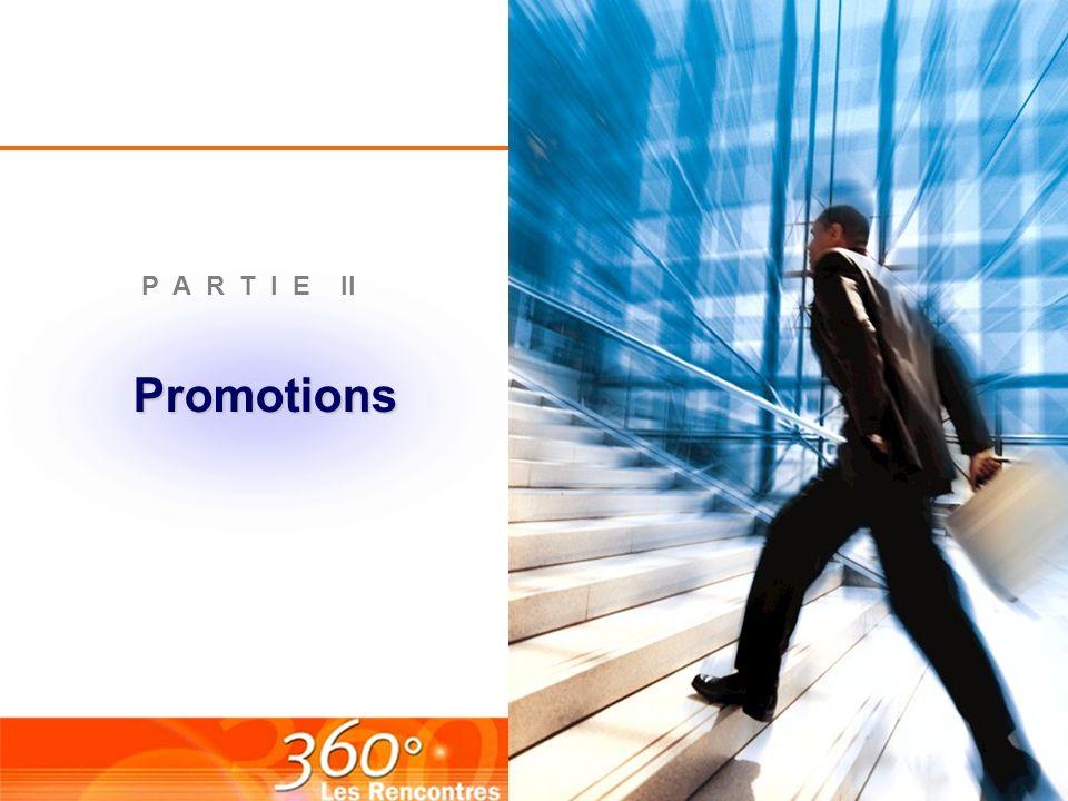 P A R T I E II Promotions