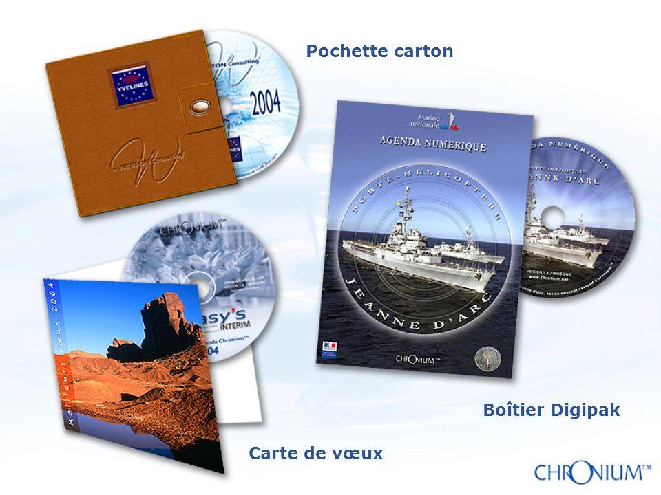 Pochette carton Boîtier Digipak Carte de vœux