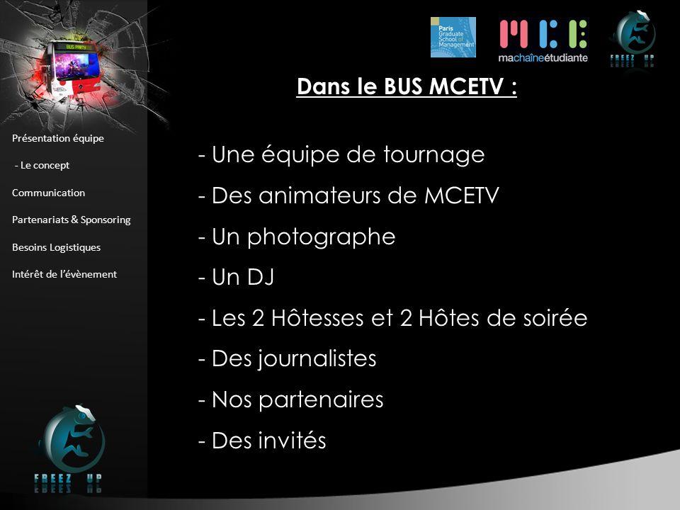 BUS PARTY : Le Bus Dans le BUS MCETV : - Une équipe de tournage