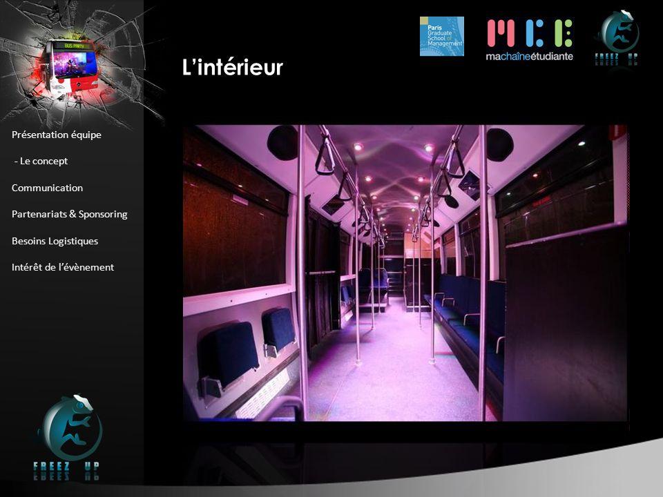 BUS PARTY : Le Bus L'intérieur Présentation équipe - Le concept