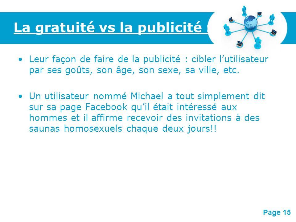 La gratuité vs la publicité :