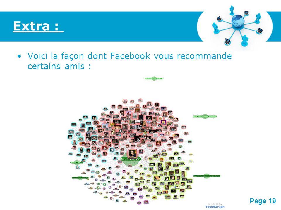Extra : Voici la façon dont Facebook vous recommande certains amis :