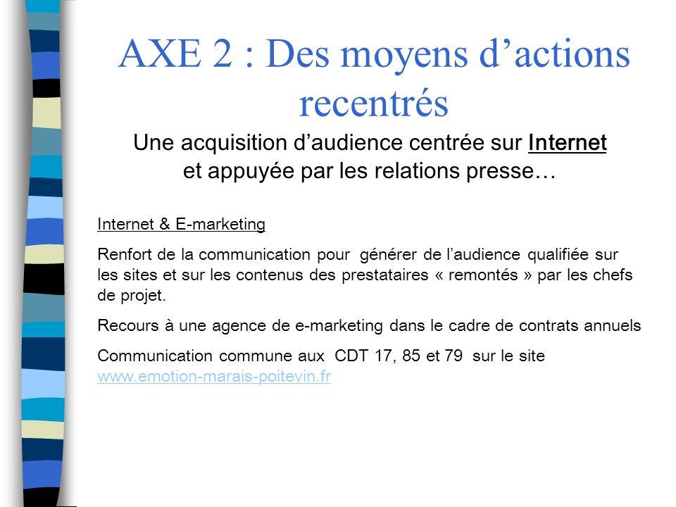 AXE 2 : Des moyens d'actions recentrés
