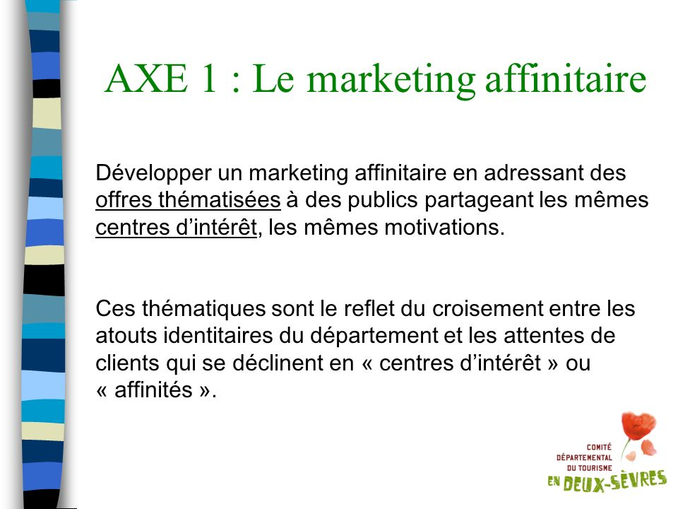 AXE 1 : Le marketing affinitaire