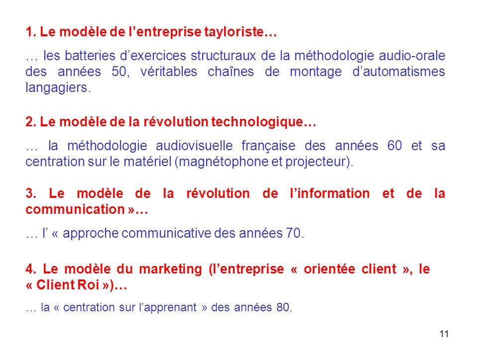 1. Le modèle de l'entreprise tayloriste…