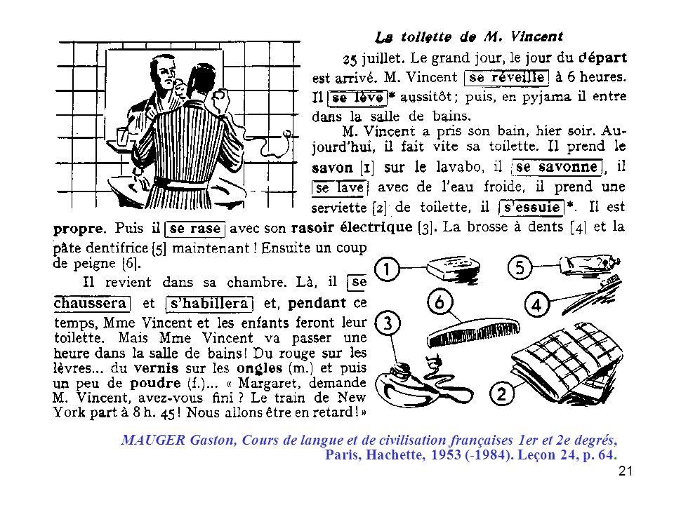MAUGER Gaston, Cours de langue et de civilisation françaises 1er et 2e degrés,