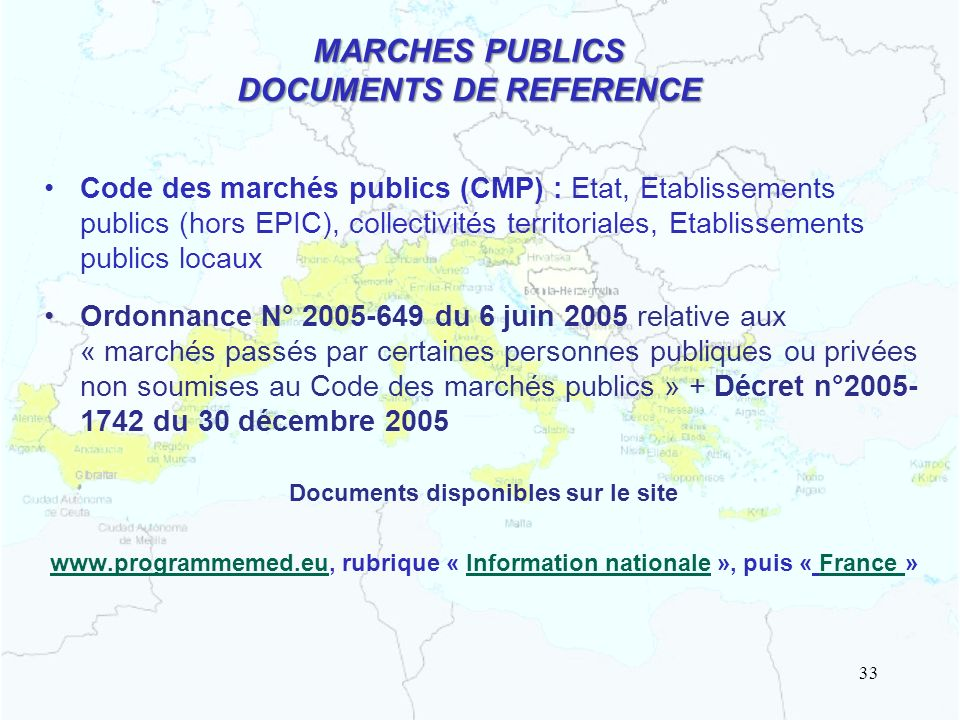 MARCHES PUBLICS DOCUMENTS DE REFERENCE