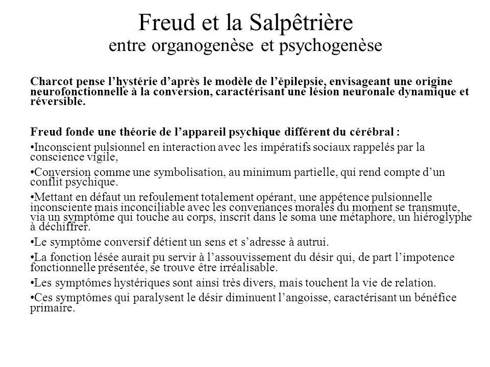 Freud et la Salpêtrière entre organogenèse et psychogenèse