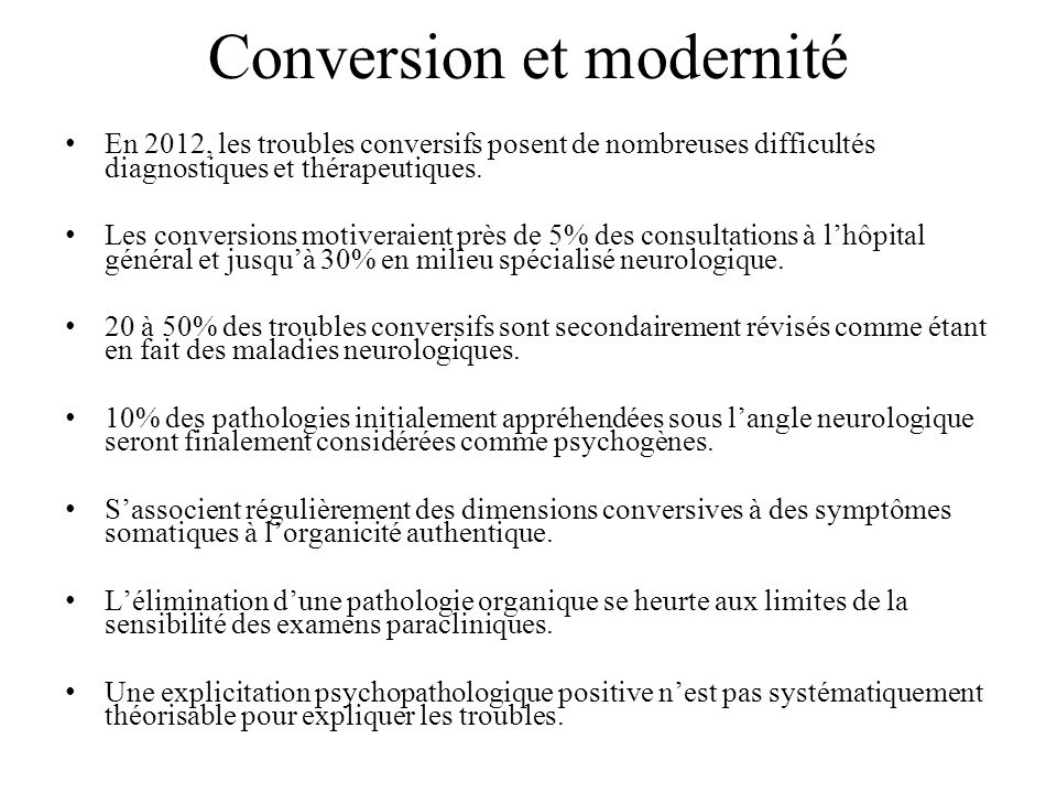 Conversion et modernité