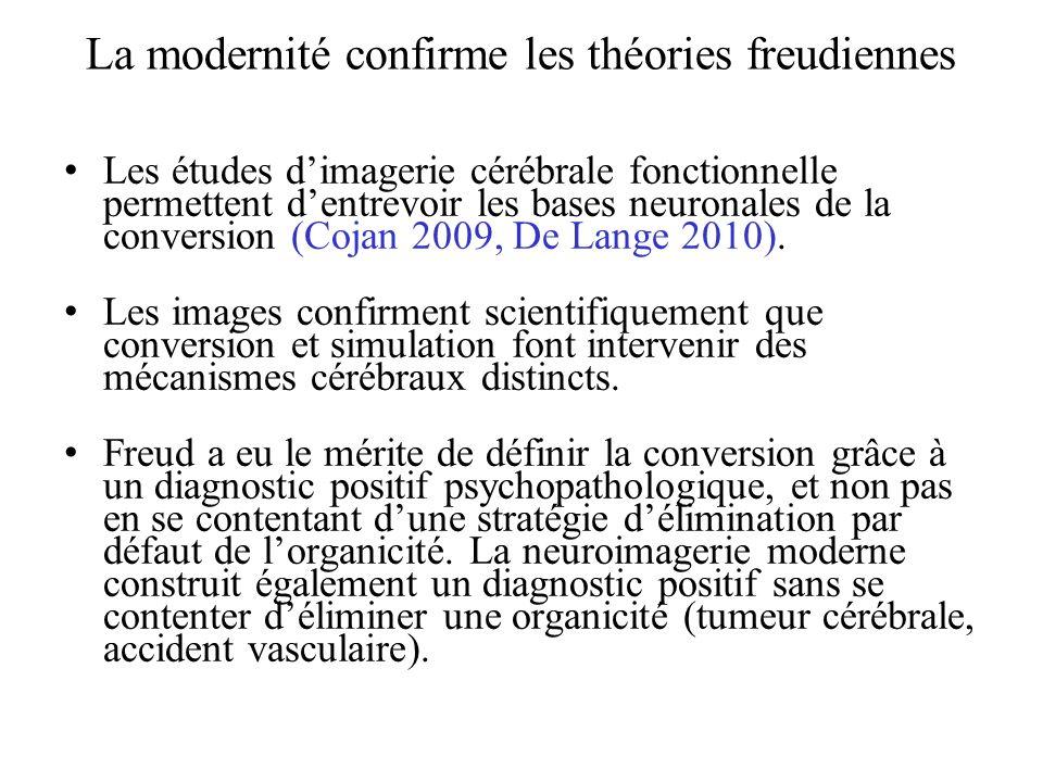 La modernité confirme les théories freudiennes