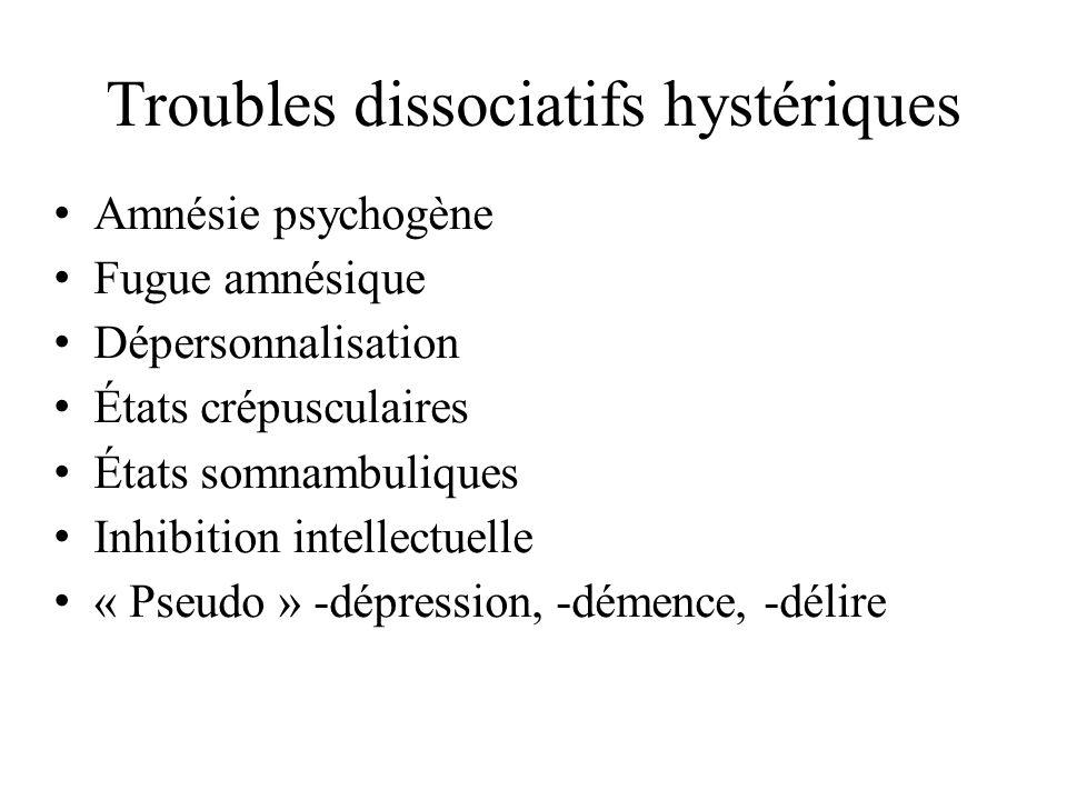 Troubles dissociatifs hystériques