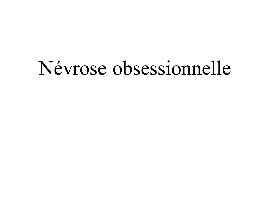 Névrose obsessionnelle