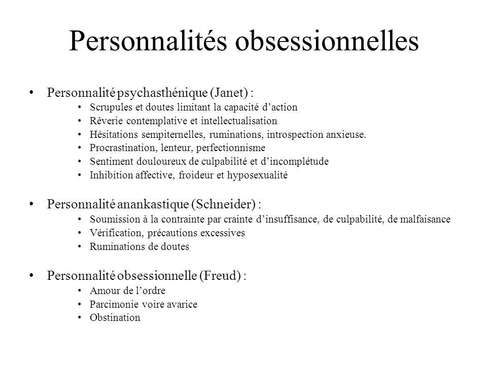Personnalités obsessionnelles
