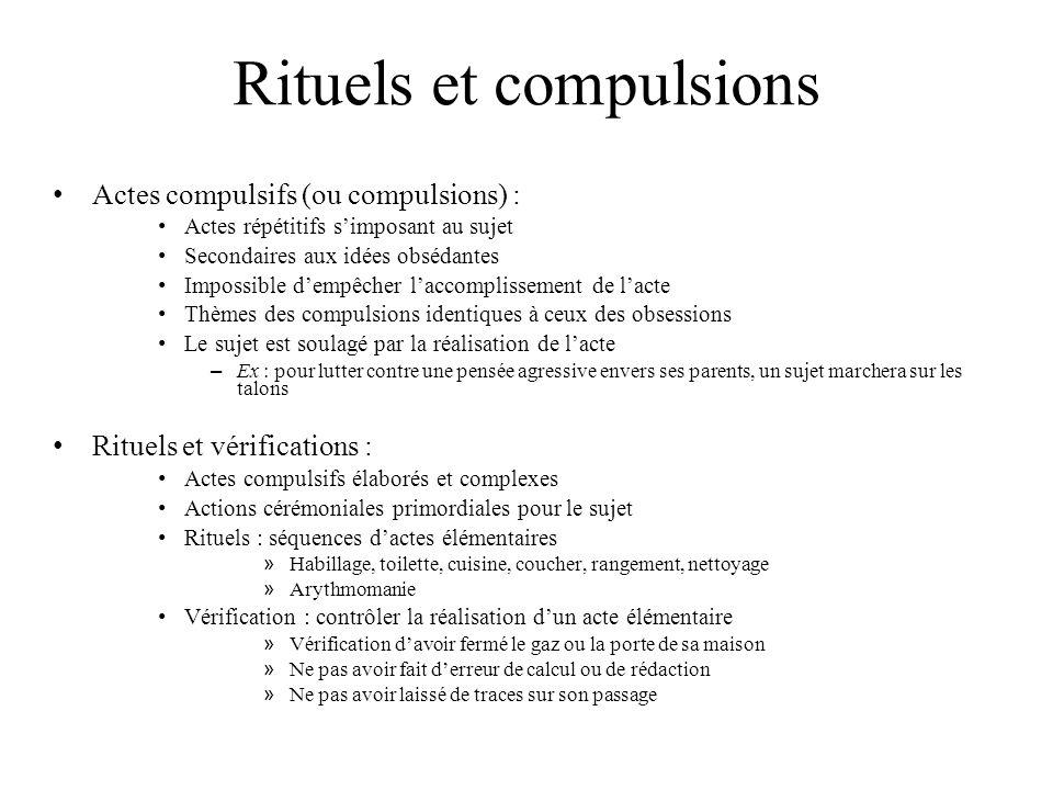 Rituels et compulsions