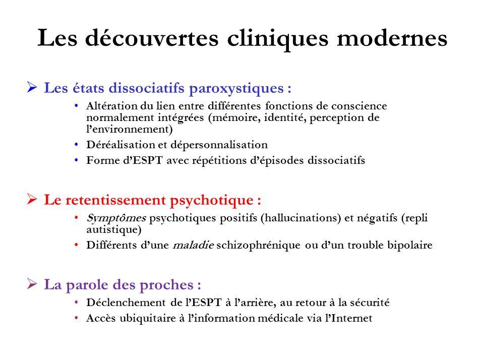 Les découvertes cliniques modernes