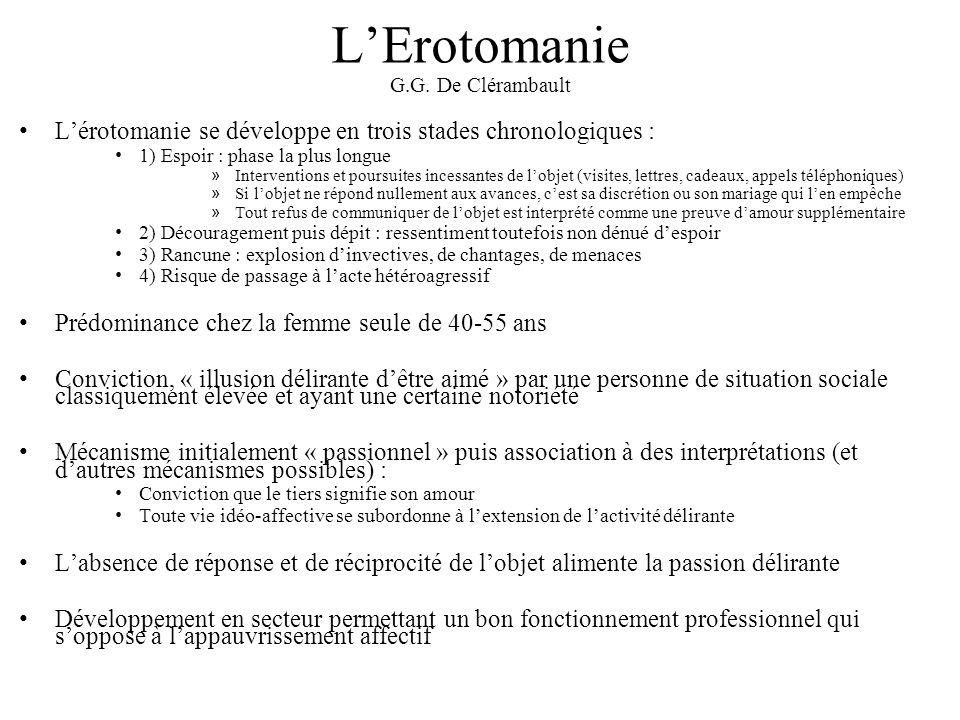 L'Erotomanie G.G. De Clérambault