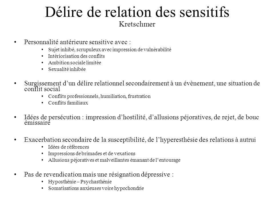 Délire de relation des sensitifs Kretschmer