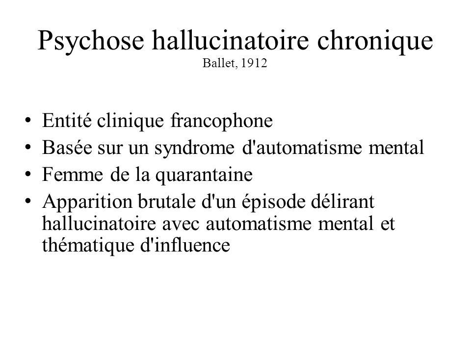 Psychose hallucinatoire chronique Ballet, 1912