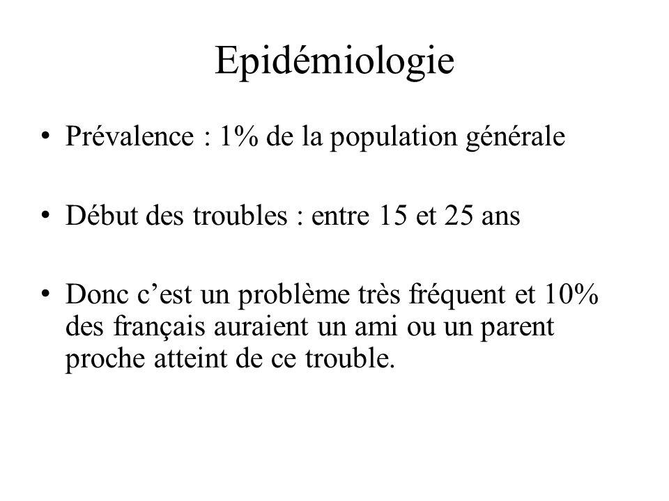 Epidémiologie Prévalence : 1% de la population générale