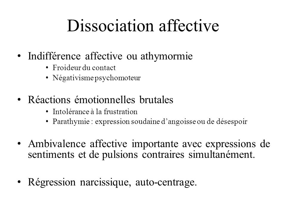 Dissociation affective