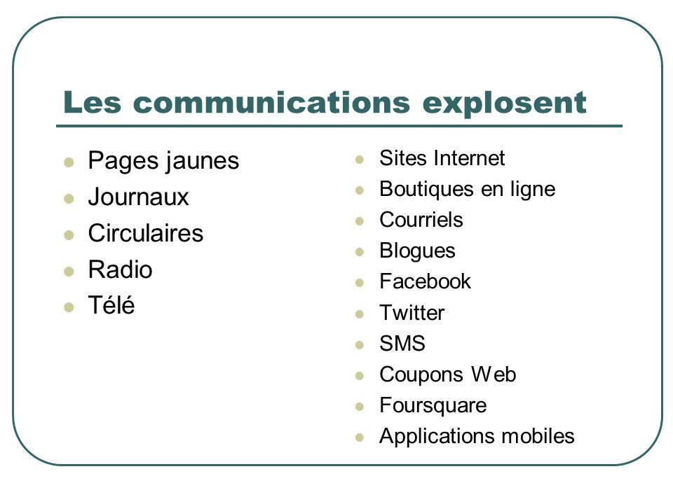 Les communications explosent