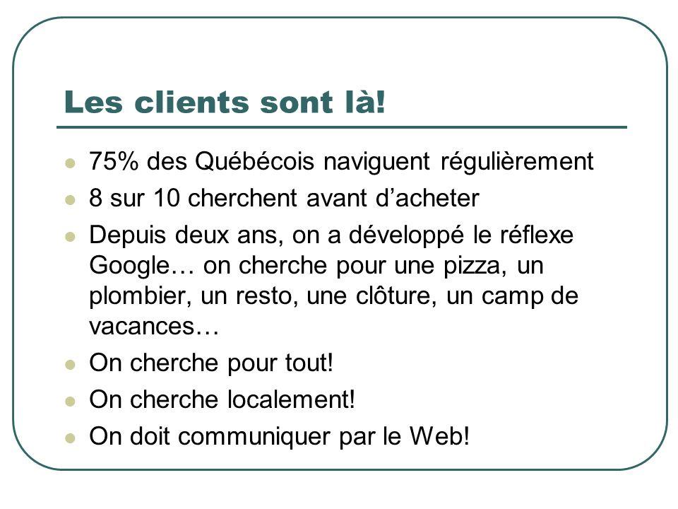 Les clients sont là! 75% des Québécois naviguent régulièrement