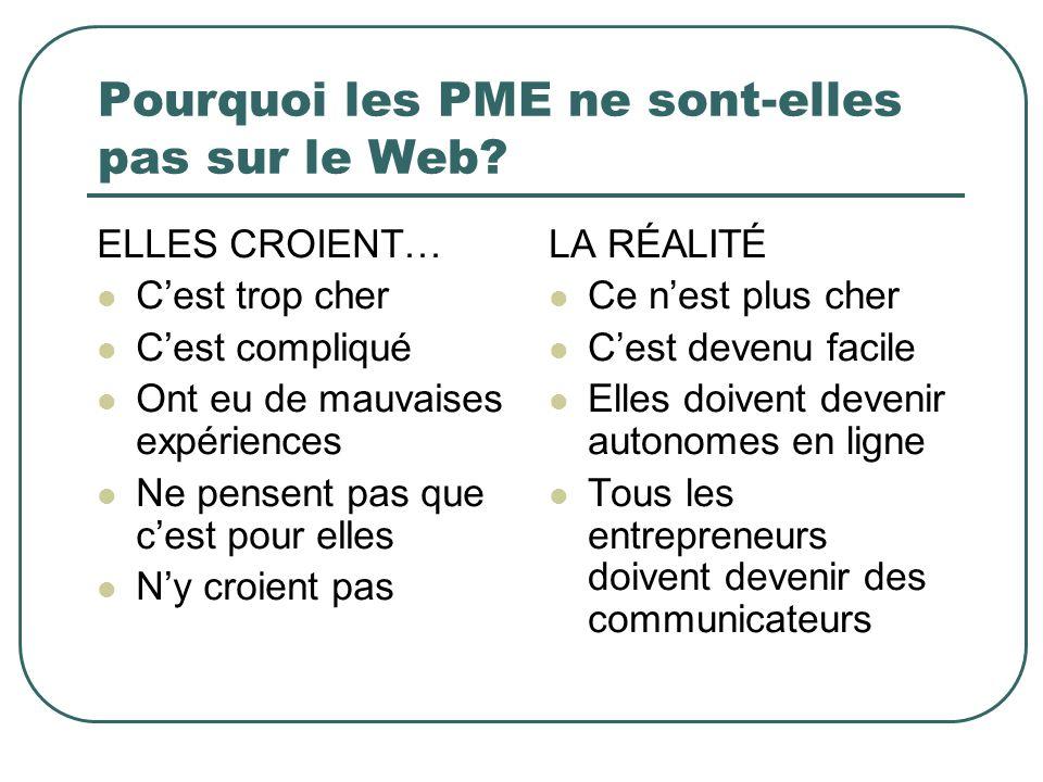 Pourquoi les PME ne sont-elles pas sur le Web