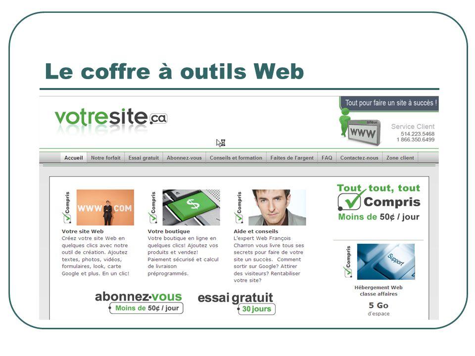 Le coffre à outils Web