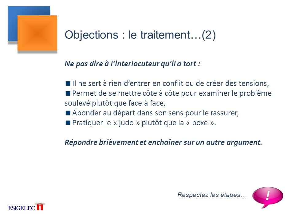 Objections : le traitement…(2)