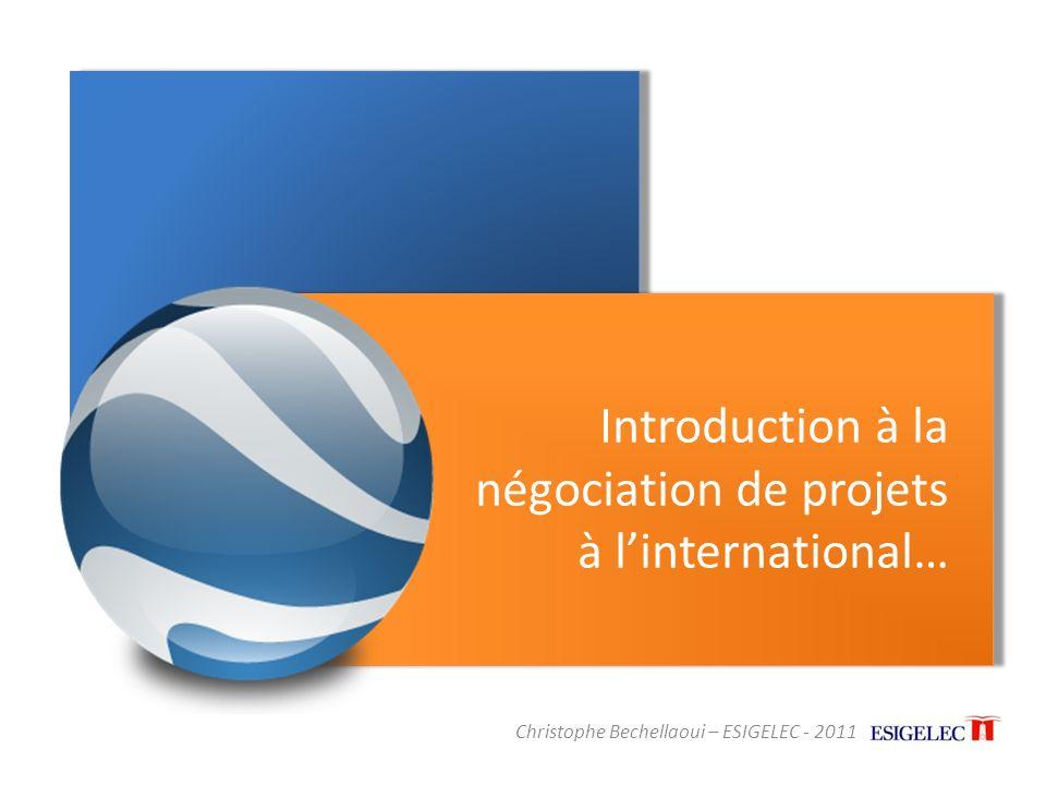 Introduction à la négociation de projets à l'international…