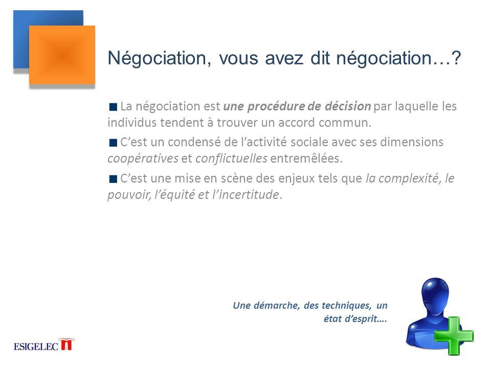 Négociation, vous avez dit négociation…