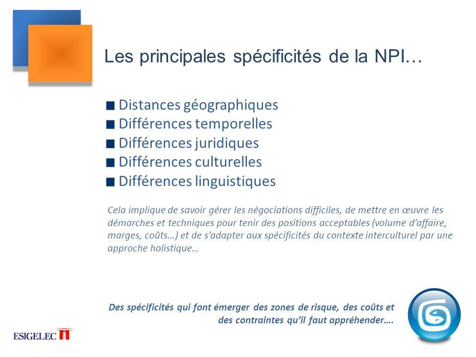 Les principales spécificités de la NPI…