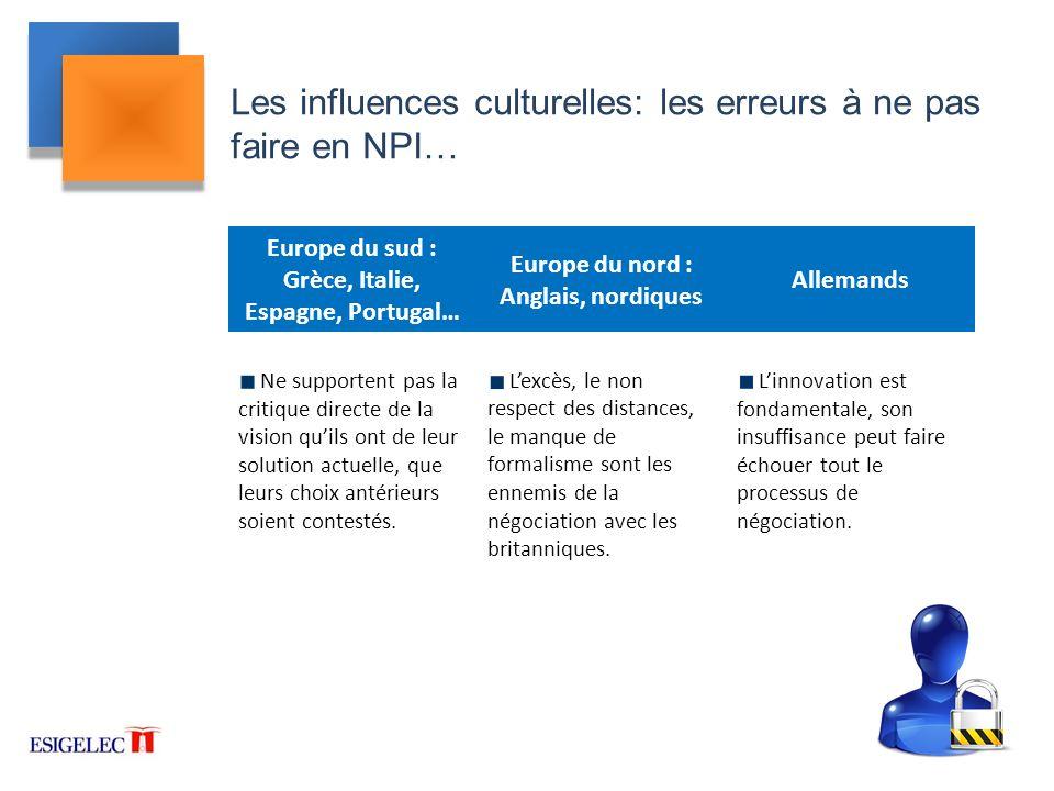 Les influences culturelles: les erreurs à ne pas faire en NPI…