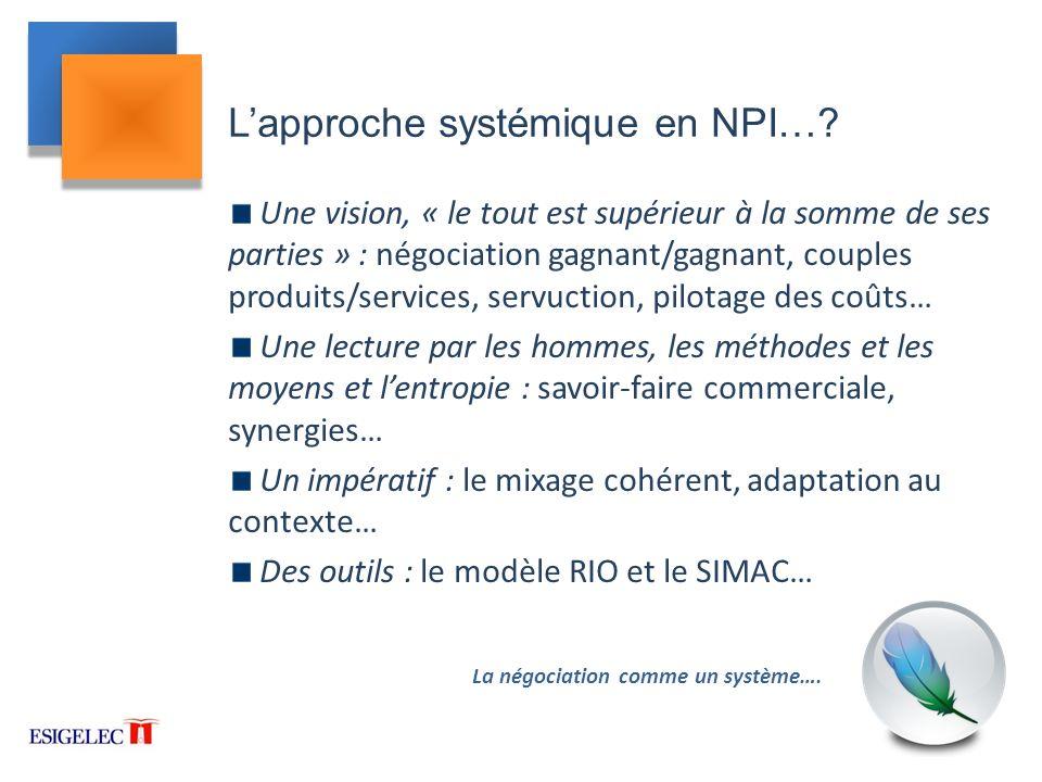 L'approche systémique en NPI…