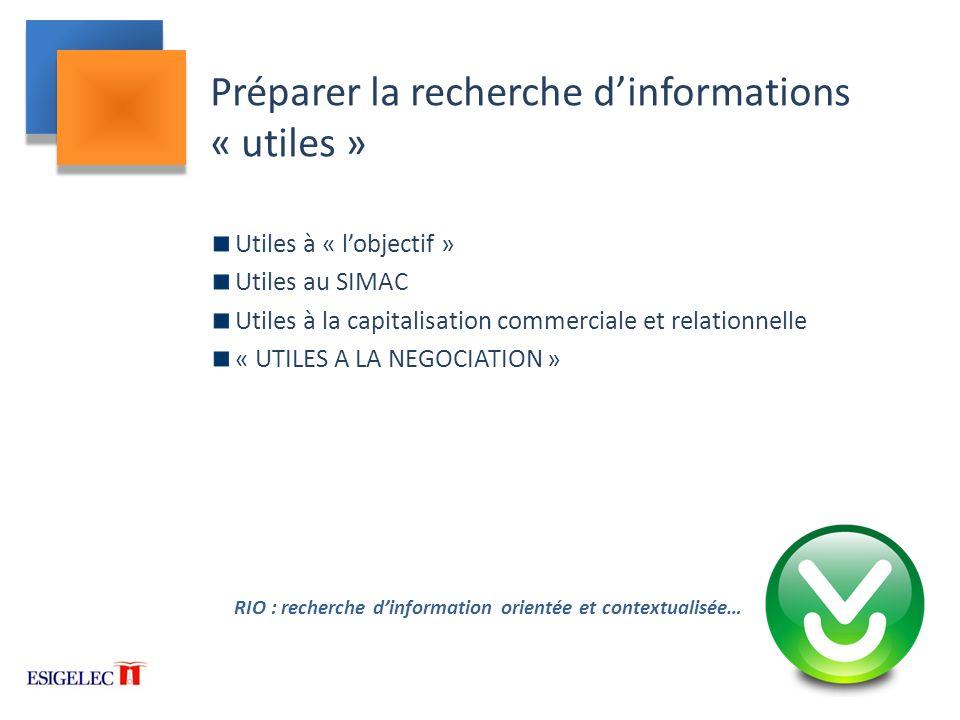 Préparer la recherche d'informations « utiles »