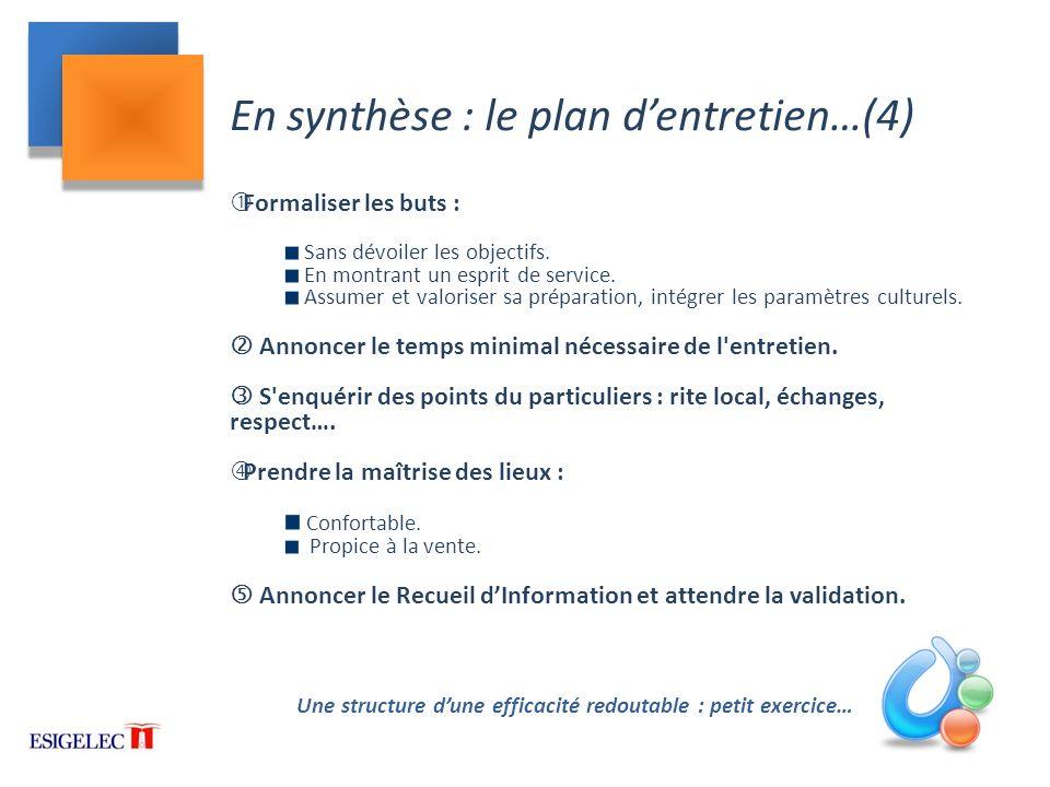 En synthèse : le plan d'entretien…(4)