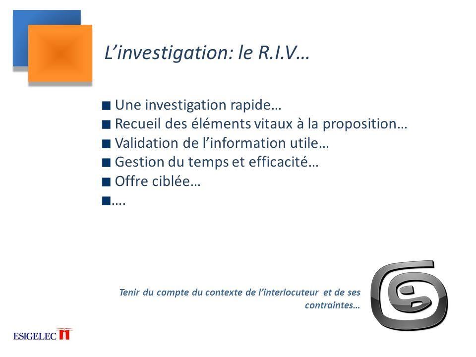 L'investigation: le R.I.V…