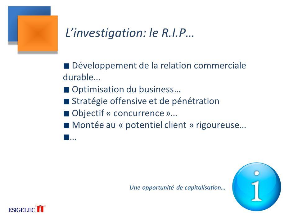 L'investigation: le R.I.P…