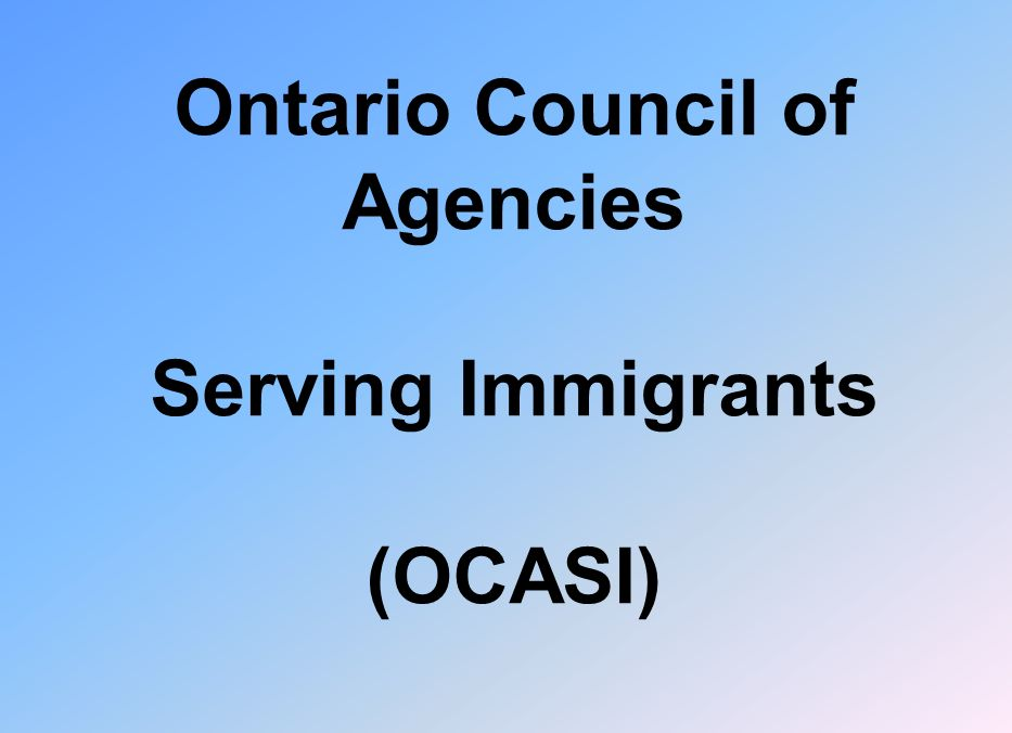 Ontario Council of Agencies Serving Immigrants (OCASI)