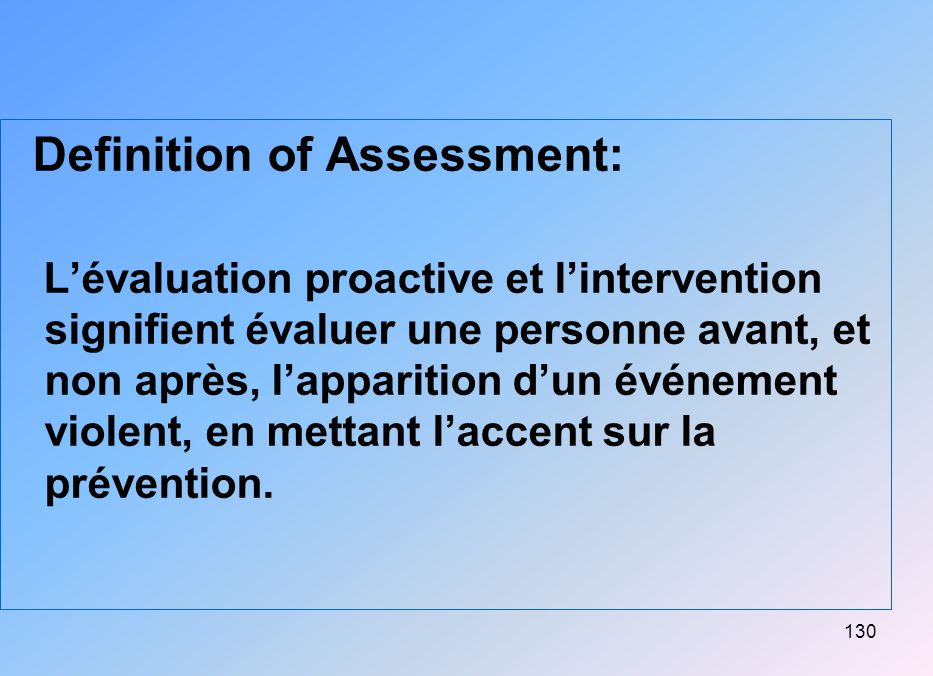 Definition of Assessment: