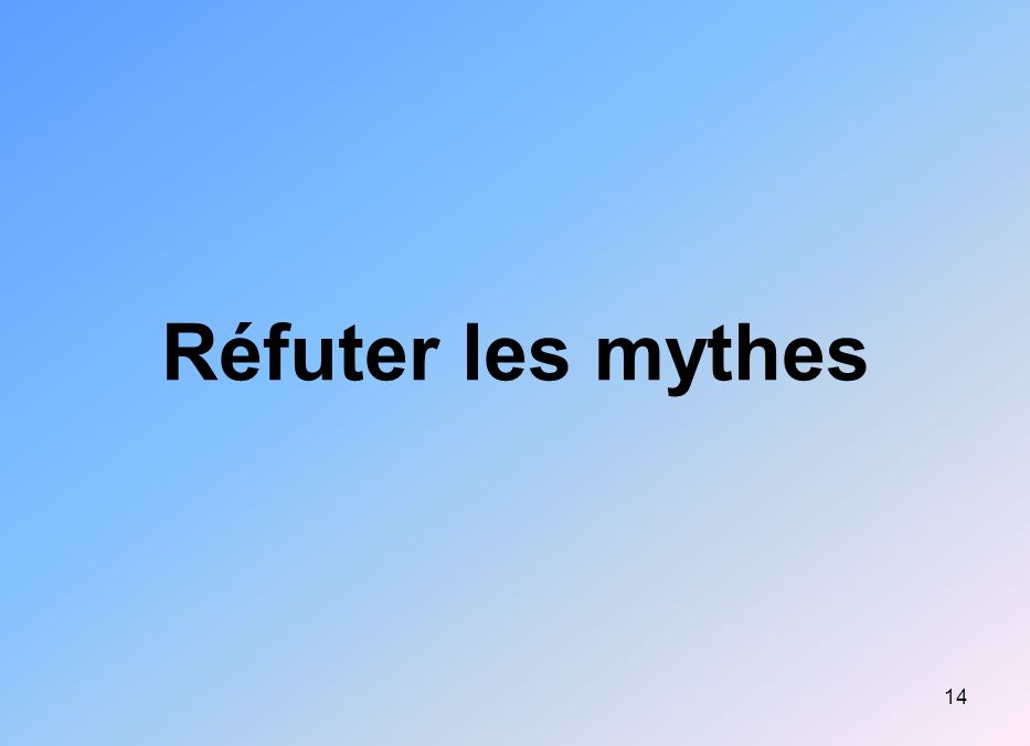 Réfuter les mythes